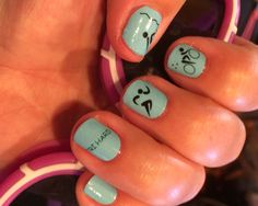 Turquoise Triathlon wraps on hands. (The night before my first 70.3 race!)
