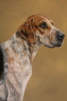 Foxhound painting