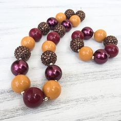 Mustard Yellow Chunky Necklace, Fall Chunky Necklace, Mustard Yellow Bubblegum Necklace, Fall Necklace, Toddler Necklace, Etsy Jewlery, Thanksgiving Necklace, Mustard Yellow, Burgundy Chunky Necklace, Baby Necklace, Baby Fashion, Kids Fashion, Toddler Fashion, kids ootd, Childrens boutique, baby boutique, baby necklace #chunkynecklace #bubblegumnecklace #sparklenecklace #mustardyellow  https://www.etsy.com/listing/479362495/mustard-yellow-bubblegum-necklace-fall