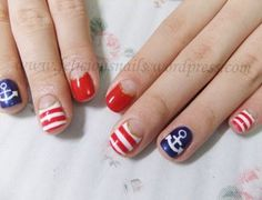MTV Mobile Blog Style: 9 Nautical Nail Designs To Get You In The Patriotic Spirit