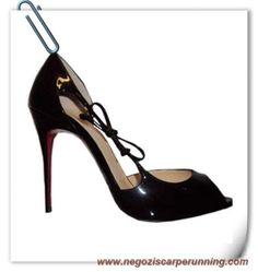 scarpe calcio bambino Delico 100mm Patent Nero Christian Louboutin Donna