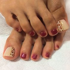 AnimalPrint Toe Nail Art #nailbook