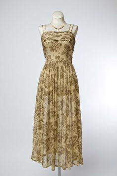 Cabaret Vintage - 1950s Voile Cotton Floral Dress, $145.00 (http://www.cabaretvintage.com/new-arrivals/1950s-voile-cotton-floral-dress/)
