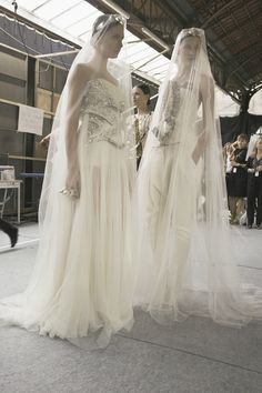 Givenchy Haute Couture backstage 2009