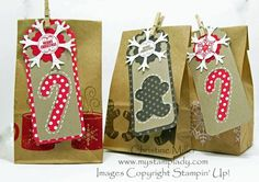 Stampin' Up! Christmas by Christine Miller at My Stamp Lady: Christmas Tag With A Framelit Window Stampin Up Christmas, Christmas Paper, Christmas Gift Tags, Xmas Cards, Christmas Projects, Holiday Cards, Christmas Wrapping, Christmas Christmas, Paper Tags