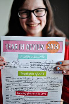 Printable New Year's Resolutions and Year in Review for Kids - get everyone in the family ready for a great year!