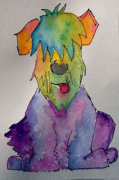 Wheaten Terrier Tongue by MADDIEsStudio on Etsy