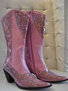 cowgirl boots...Saw lots of ladies wearing these at the rodeo. They look better in person and with a different color