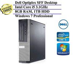 Dell Optiplex Small Form Factor High Performance Business Desktop Computer (Intel Quad-Core i5-2400 3.1GHz, 8GB RAM, 1TB HDD, DVDRW,…