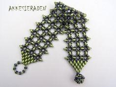 English pattern for the  O-Lace bracelet A por Akkesieraden en Etsy