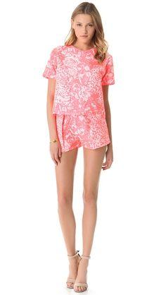 Nicholas French Jacquard Shorts Set // adore this look