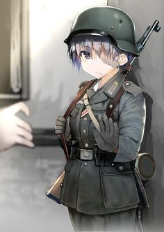 Anime Military, Military Girl, Cool Anime Girl, Kawaii Anime Girl, Anime Girls, Old Anime, Anime Art, Ww Girl, Guerra Anime