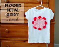 Flower Petal DIY Shirt I Heart Nap Time | I Heart Nap Time - How to Crafts, Tutorials, DIY, Homemaker