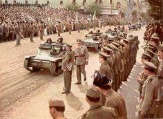 Hungarian tankette in parade