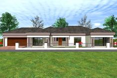Overall Dimensions- x 2 Car Garage Area- Square meters 5 Bedroom House Plans, House Plans Mansion, Family House Plans, Modern Bungalow House Design, Single Storey House Plans, Tuscan House Plans, Architect Design House, House Plans South Africa, Free House Plans