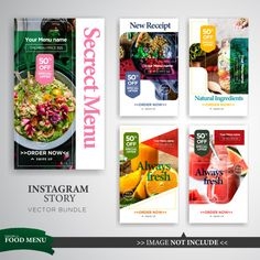Discover thousands of Premium vectors availables in AI and EPS formats. Download whatever, cancel whenever. Food Web Design, Food Poster Design, Menu Design, Banners, Web Banner, Fitness Logo, Social Design, Cosmetic Logo, Instagram Story Template