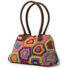 """sac en """"Recycled hooked rug""""...moi c'est en petits points que je voulais en faire"""