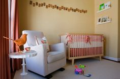 A Nursery for Baby E that is gender neutral featuring the Monte Design Luca Glider in Stone.
