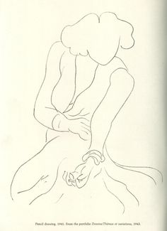 Henri Matisse | Dessins / Thémes et variations, 1943 (Pencil drawing 1941)