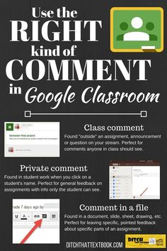 """Teachers can provide comments to students in a number of ways. Are you using the best method? (Click for """"10 tips to use Google Classroom effectively and efficiently""""!)"""