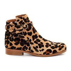 Boots cuir imprimé animal