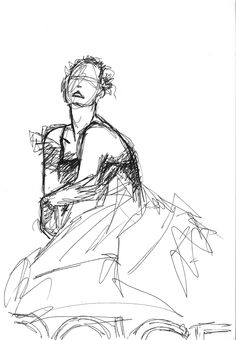Pen sketch I made in 2008 - from a Dolce & Gabbana ad (I think)