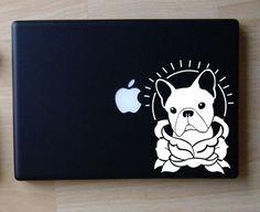 French Bulldog Traditional Tattoo Art Decal Macbook Laptop