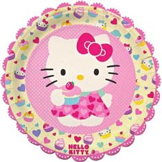 Meri Meri Hello Kitty Large Paper Plates, 12-Pack