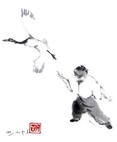 """""""When art, mind, body, and spirit converge there can be tai chi."""" - TCJ - taichicrossroads.blogspot.com - Painting by Assi Ben Porat #TaiChi #Taijquan"""