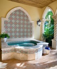 Handmade Ceramic Tiles: Mizner Industries Hand Painted Ceramics Designs Custom Trim Field Kitchens Bathrooms Spas Pools Murals Fountains Italian Spanish Portuguese Dutch Mediterranean