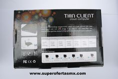 Terminal Thin Client WiFi en caja vista trasera