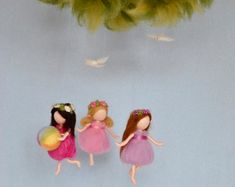 Items similar to Rainbow mobile Waldorf inspired needle felted dolls: rainbow fairies on Etsy Wool Dolls, Felt Dolls, Fairy Room, Rainbow Fairies, Spring Fairy, Summer Scenes, Mobiles, Felt Mobile, Cute Fairy