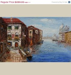 On SALE ORIGINAL Oil Painting The Beauty of Venice 23x by decorpro, $245.65