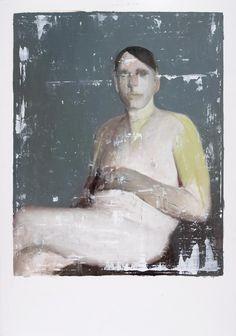© Alexander Tinei, Showcase, 100 x 70 cm, huile sur papier, 2014