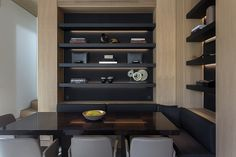 SMK Interiors by Silvina Macipe Krontiras - Hotels, Residencies, Offices, Restaurants, Bars and more . Joinery, Bookcase, Shelves, Architecture, Offices, Restaurants, Projects, Hotels, Interiors