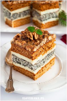 orzechowiec Cheesecake Recipes, Cookie Recipes, No Bake Desserts, Dessert Recipes, Polish Recipes, Dessert Bars, Chocolate Desserts, Yummy Cakes, Sweet Recipes