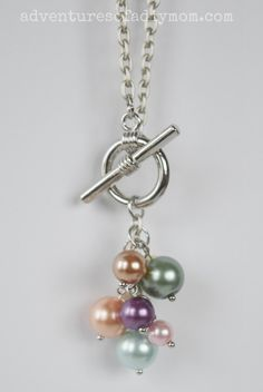 DIY Pearl Cluster Necklace Tutorial in Young Women Value Colors
