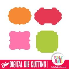 Get these assorted artisan labels, they are perfect for use for making cards or invitations, or for your scrapbooking or crafting projects. Digital die cutting files are designed specifically with cutting machines in mind. Use them with programs such as your Silhouette, Cricut (SCAL/MTC), Pazzles, Klick-n-Kut, Wishblade or any cutting machine that can use the following file formats: SVG, PDF, and DXF.