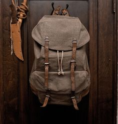 1962 Swiss Army Canvas & Leather Rucksack