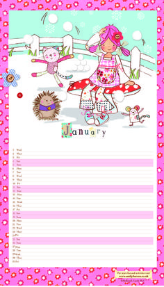 Download January's calendar page