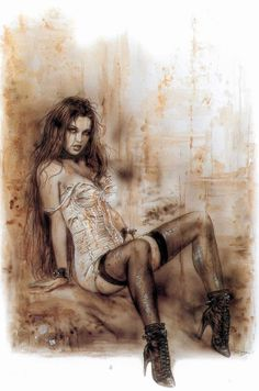 The Beautiful Gothic Fantasy Artwork of Luis Royo. Fantasy Artwork, Fantasy Girl, Dark Fantasy, Pin Up, Luis Royo, Sexy Drawings, Boris Vallejo, Spanish Artists, Fantasy Kunst