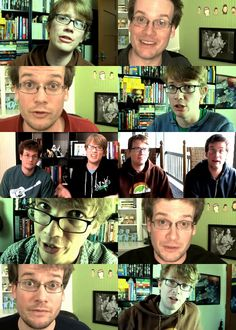 John and Hank Green of the Vlogbrothers. Two of the most perfect human beings ever
