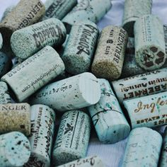 Learn how to easily tint wine corks to the color of your liking.  Use for crafts or displayed in a bowl
