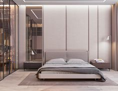 Asymmetric headboard wall #minimal #asymmetry