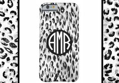 LEOPARD Monogram Cell Phone Case, iPhone 6 case, Note 4 case, leopard phone case, iPhone 6 plus cell phone case, iPhone 6 plus case, S6 #650 by DesignsbyLiv15 on Etsy