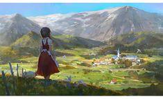mountain, Krenz Cushart on ArtStation at https://www.artstation.com/artwork/8x0mQ