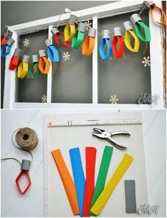 Diy christmas decorations 164099980159742965 - 25 DIY Garland Ideas To Dress Up. - Diy christmas decorations 164099980159742965 – 25 DIY Garland Ideas To Dress Up Your Home This Ho - Diy Garland, Garland Ideas, Light Garland, Paper Garlands, Kids Crafts, Kids Holiday Crafts, Holiday Ideas, Christmas Crafts With Paper, Paper Christmas Decorations