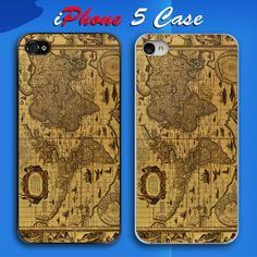 Vintage Map Books Letters Custom iPhone 5 Case Cover