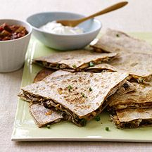 WW Chicken and Cheese Quesadillas:  4 servings; 9 points+ per serving