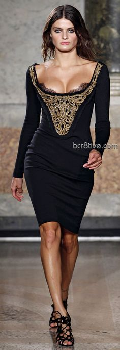 Sexy in Black from Emilio Pucci~~don't forget the pasties, this is a malfunction just waiting to happen!~~B~~
